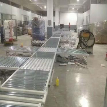 生產廠家直銷無動力滾筒線流水線倍速鏈組裝線小型輸送機斜波拉